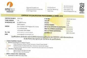 OPQTECC - Missions économiques en maîtrise d'oeuvre - Démolition / Désamiantage - Mention BIM - IFC -